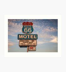 66 Motel Art Print
