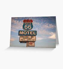 66 Motel Greeting Card