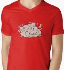 Cat fight Men's V-Neck T-Shirt