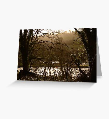Rainy Day on the Camel Trail Greeting Card