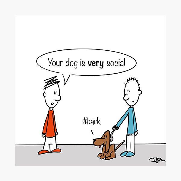 #bark Cartoon Photographic Print