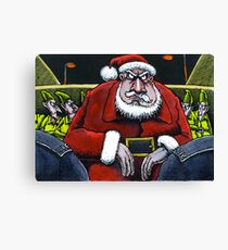 Festive scrape for Santa Canvas Print