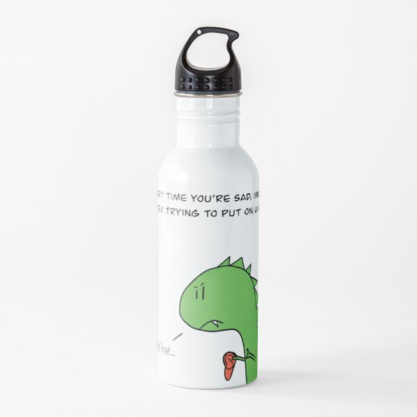 T Rex Cartoon Water Bottle