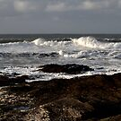 Rocks and Waves, Trevone Bay, Cornwall by Samantha Higgs