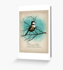 Black-capped Widow Greeting Card