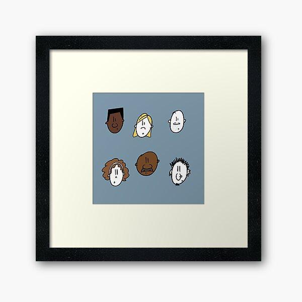 Diversity Cartoon Framed Art Print