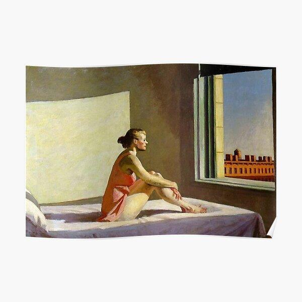Sol de la mañana Edward Hopper Póster