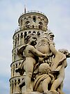 Leaning tower of Pisa and Cherubs, Tuscany, Italy by David Carton