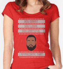 DJ Khaled Christmas Sweater Women's Fitted Scoop T-Shirt