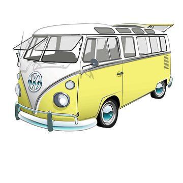 21 Window Volkswagen Bus by sarahrulon