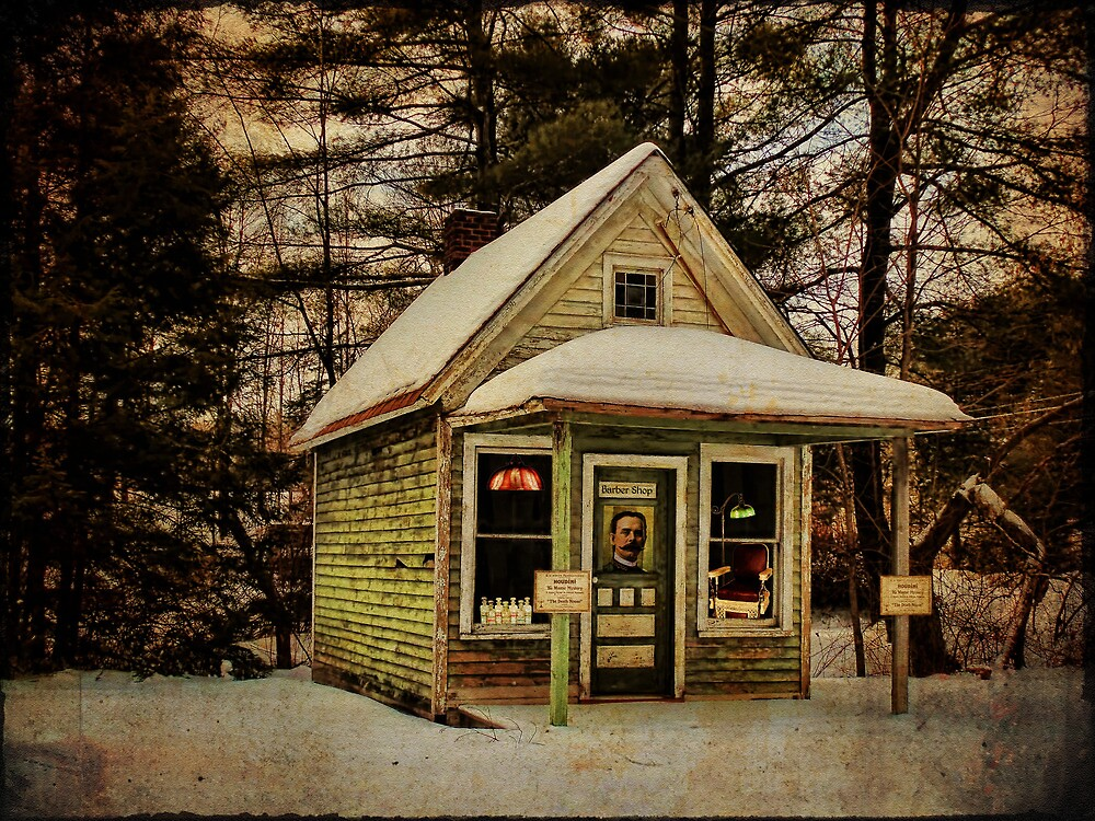 Barber Shop Before Post Office by PineSinger