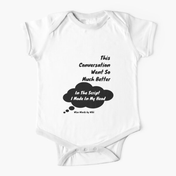 In My Head - Black Text Short Sleeve Baby One-Piece