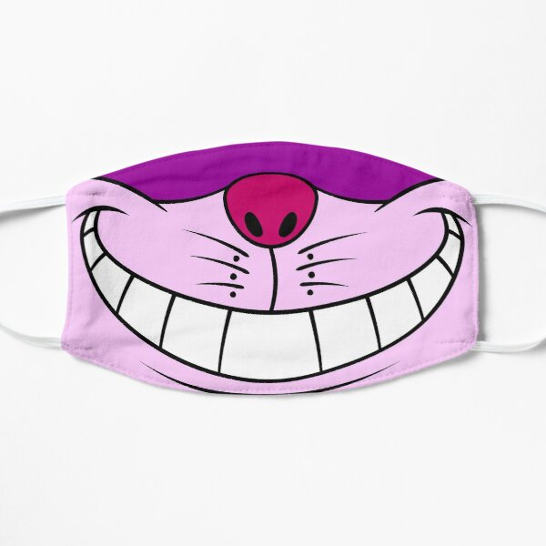Cheshire Cat Alice In Wonderland Grinning Smile (Pink / Purple) Flat Mask
