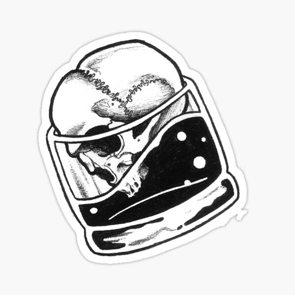 Skull Bourbon Sticker