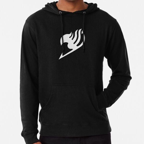Fairy Tail logo, handmade, blanc et noir Sweat à capuche léger