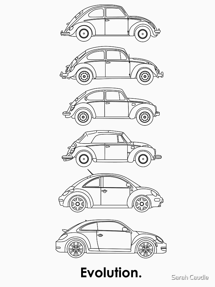 Evolution of the Volkswagen Beetle | Unisex T-Shirt