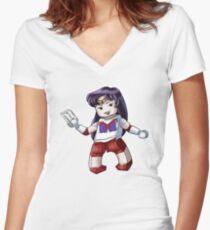 Legolized Sailor Mars Women's Fitted V-Neck T-Shirt