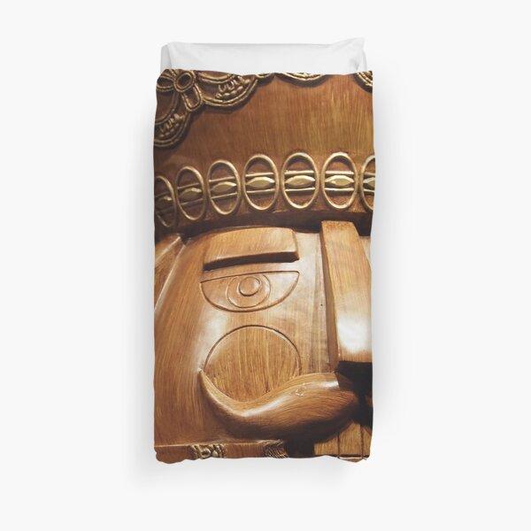 Wooden Nutcracker for Christmas Duvet Cover