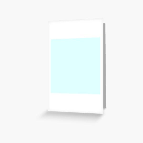 Light Cyan Greeting Card