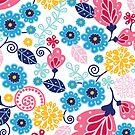 Fairytale flowers pattern by oksancia