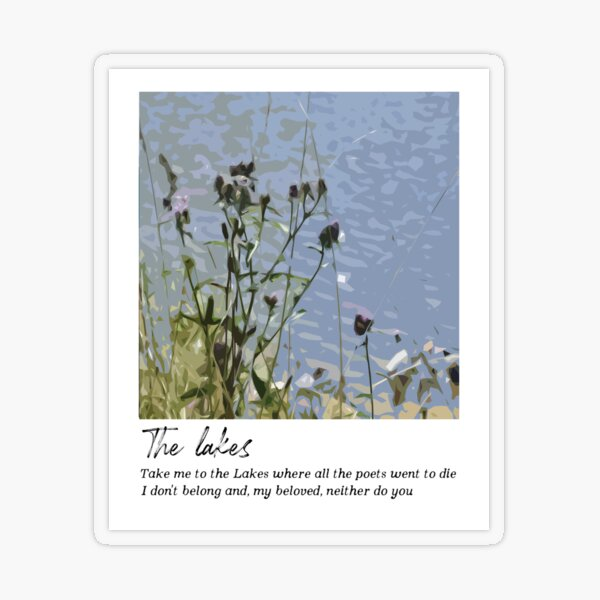 The lakes - Taylor Swift  Transparent Sticker