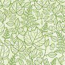 Green lace leaves pattern by oksancia