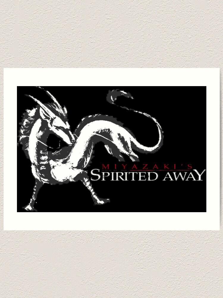 Spirited Away Haku Dragon Art Print By Tvdesigns21 Redbubble