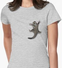 Sugar Glider Clinger Women's Fitted T-Shirt