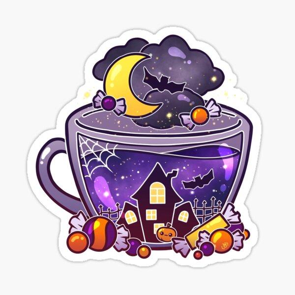 Haunted Halloween Tea Sticker