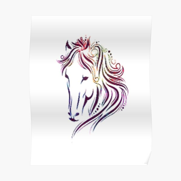 Colorfully horse  Poster