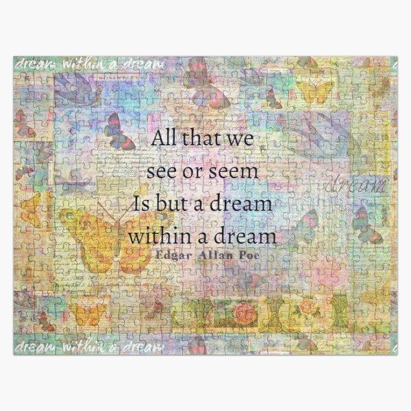 Un sueño dentro de un sueño cita de Edgar Allan Poe Puzzle