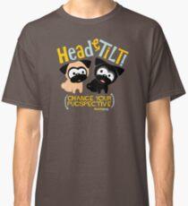 Pug Head Tilt (gold & blue) Classic T-Shirt