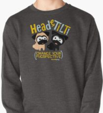 Pug Head Tilt (gold & blue) Pullover
