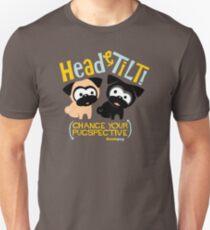 Pug Head Tilt (gold & blue) T-Shirt