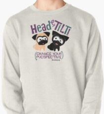 Pug Head Tilt (Blue and Purple) Pullover