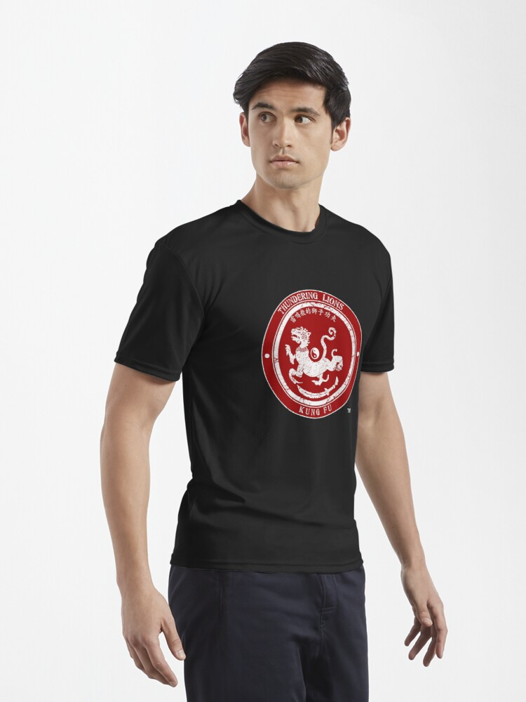 Alternate view of Thundering Lions Red Logo Active T-Shirt