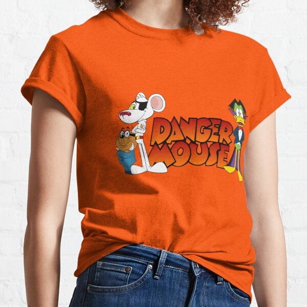 Danger Mouse Kids T-SHIRT T SHIRT TEE Birthday Gift Retro 80s Cartoon