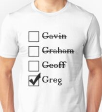Is that why you're calling yourself 'Greg'? Unisex T-Shirt