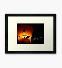 SOLD - YOU LIGHT UP MY LIFE Framed Print