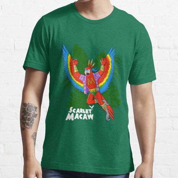 Scarlet Macaw - Pack Of Hereos Essential T-Shirt