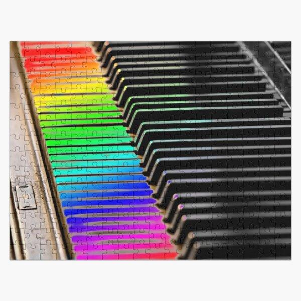 Rainbow Piano Keys Jigsaw Puzzle