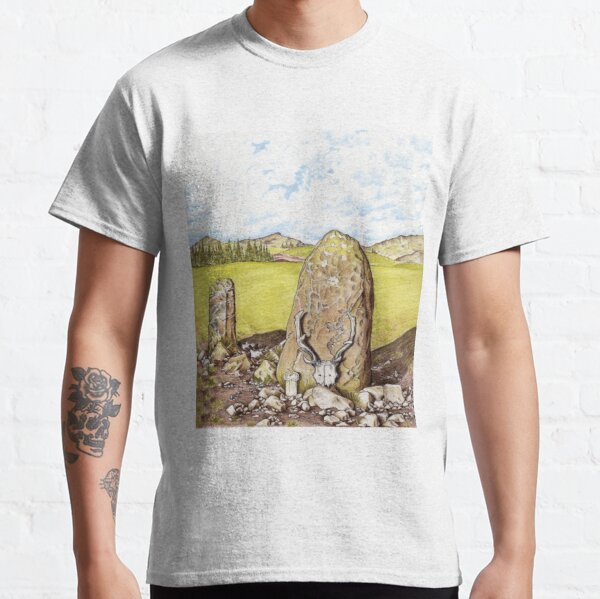 Antlered Crown and Standing Stone Classic T-Shirt