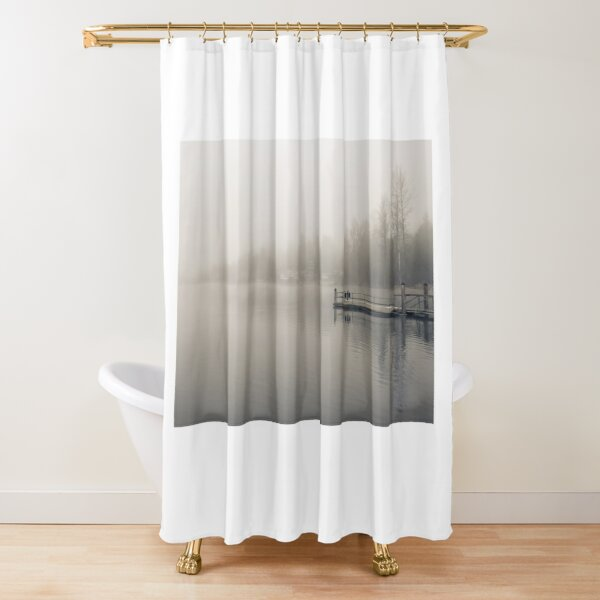 Foggy PNW Sunrise 002 Shower Curtain
