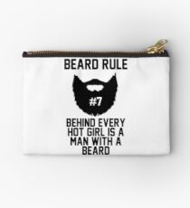 Beard RUle #7 Behind Every Hot Girl Is A Man With A Beard Studio Pouch