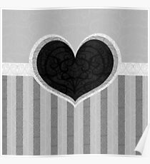 Heart on Stripes Poster