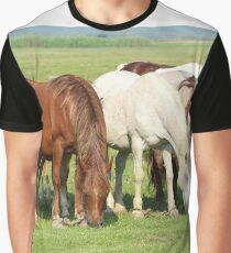 horses in pasture Graphic T-Shirt