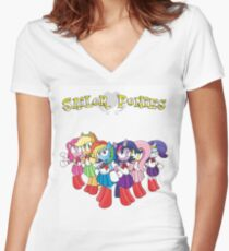 The Sailor Ponies Are Here! Women's Fitted V-Neck T-Shirt