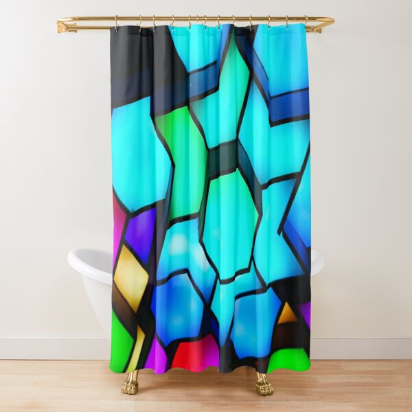 led shower curtains redbubble