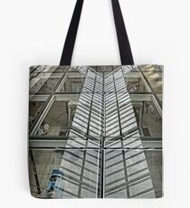 Roof mirrored in the glass floor of the Canberra Centre - 2 Tote Bag