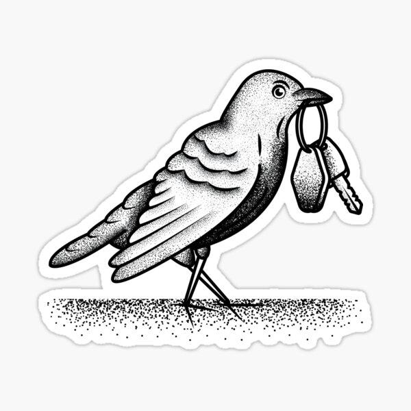 Bon Iver Re: Stacks Black Crow Sticker